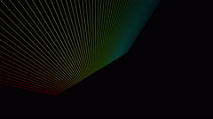 Futuristic animation with particle stripe object and lights, 4096x2304 loop 4K Stock Footage