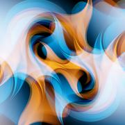Vector background, wavy lines Stock Illustration