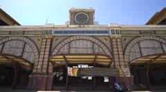 Old train station building in Dakar - Senegal Stock Footage