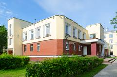 Student canteen of Vitebsk State Medical University, Belarus Stock Photos