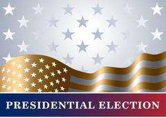 American flag background Presidential Election Stock Illustration