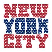 T shirt typography New York blue red stars Stock Illustration