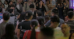 Crowded street of Hong Kong Stock Footage