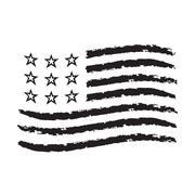 American wave flag grunge symbol Independence Day Piirros