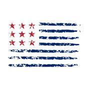 American color flag grunge celebration Independence Day Stock Illustration