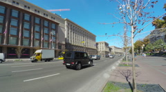 The main street of Kiev Stock Footage