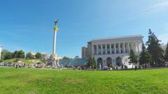 The main square of Kiev Stock Footage