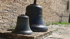 Two church bells  from the fortress wall close to Arkistovideo