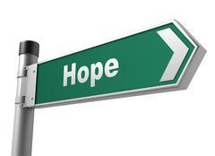 Hope road sign Stock Illustration