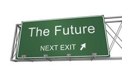 Future road sign Stock Illustration