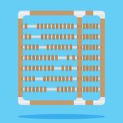 Abacus design flat Stock Illustration