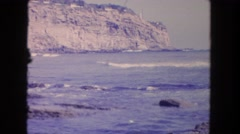 1962: waves rushing to the shoreline SAN PEDRO, CALIFORNIA Stock Footage