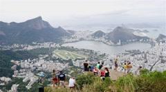 View of the Lagoa and Jardim Botânico Stock Footage