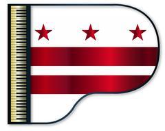 Grand Piano Washington DC Flag Stock Illustration
