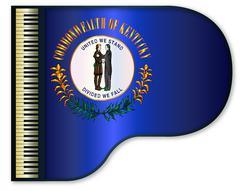 Grand Piano Kentucky Flag Stock Illustration