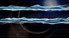 Fantastic animation wave object in slow motion with light, 4096x2304 loop 4K Stock Footage