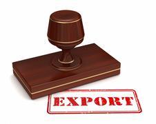 Export stamp concept 3d illustration Stock Illustration