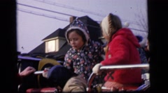 1964: a family is seen going on a trip with a small child CAMDEN, NEW JERSEY Stock Footage