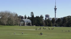Auckland Domain New Zealand Stock Footage