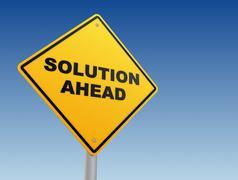 Solution ahead signpost concept 3d illustration Stock Illustration