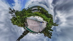 Little Tiny Planet 360 Degree. Mariinsky Park. Kiev Stock Footage