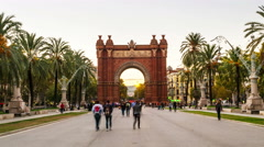 Arch of Triumph in Barcelona, Spain Stock Footage