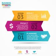 Vector up arrows infographic, diagram, graph, presentation, chart. Business Piirros