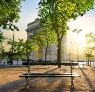 Arc de Triomphe in Paris Stock Photos