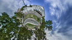 Little Tiny Planet 360 Degree. Theater Franco Stock Footage