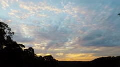 Clouds Drifting at Sunset in Spring  Stock Footage