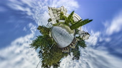 Little Tiny Planet 360 Degree. Gorodetsky House Stock Footage