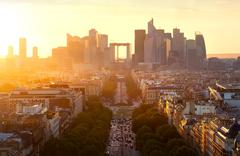 La Defense in Paris Stock Photos