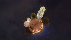 Little Tiny Planet 360 Degree. Kiev. Lavra Stock Footage