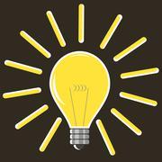Included Glass Bulb. Symbol of Original Ideas. Stock Illustration