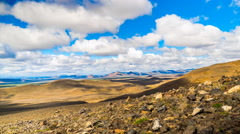 Time lapse of clouds and shadow on the mountain of north Iceland Stock Footage