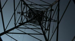 High-voltage tower. Stock Footage