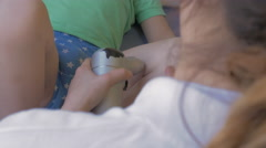 Physiotherapy session for a child Stock Footage