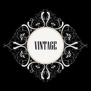 Beautiful vintage label with swirls Stock Illustration