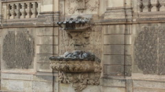 Old Fountain In Dresden Germany Stock Footage
