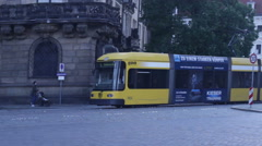 Tram Rides In The City Center Stock Footage