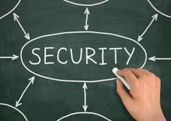 Security chalkboard write concept 3d illustration Stock Illustration