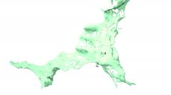 Slow motion green splash of liquid. Paint Stock Footage