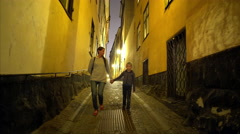 Old town (Gamla Stan) of Stockholm, Sweden. Stock Footage