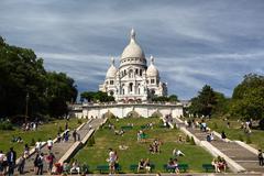 Sacre Coeur Basilica in summer day Stock Photos