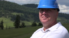 Trustworthy Engineer Image in a Press Presentation Smiling Confident to Camera.  Stock Footage