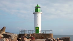 View to lighthouse close-up Stock Footage