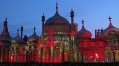 View of the Brighton pavilion Stock Footage