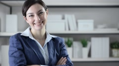 Confident businesswoman Stock Footage