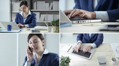 Businesswoman at work Stock Footage
