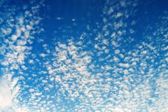 Sky with clouds background Stock Photos